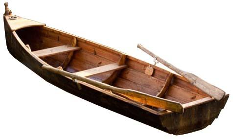 Barque de peche en bois
